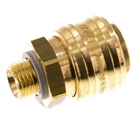 Kupplungsstecker NW7,2 Messing vernickelt Werkstoff:Messing vernickelt G 1//4 AG