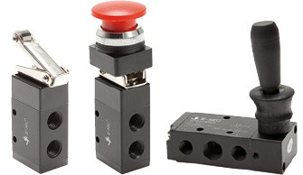 Limit switch, button activated valves & hand lever valves - Eco-Line