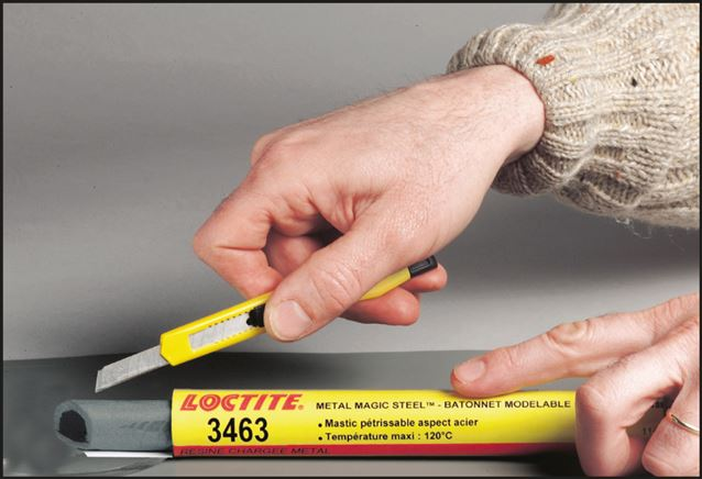 Kovový Magic Steel (TM) Stick, LOCTITE