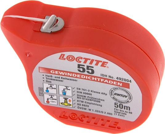 Thread sealing fibre, 50 m (Loctite) (55/50)