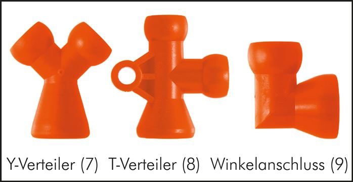 Zgleden uprizoritev: Y-distributor, T-distributor, elbow connection