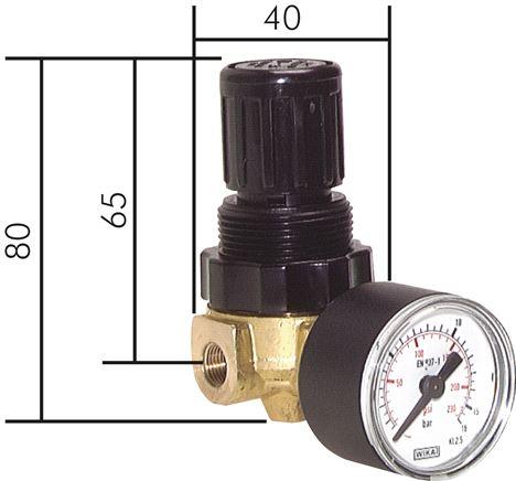 druckregler mini f r luft und wasser 340 l min landefeld pneumatik hydraulik. Black Bedroom Furniture Sets. Home Design Ideas