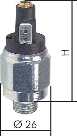 Druckschalter mit Flachstecker bis 350 bar für Hydrauliköl Druckluft Wasser