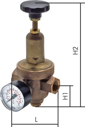 Pressure reducers for gases & liquids, up to 40 bar