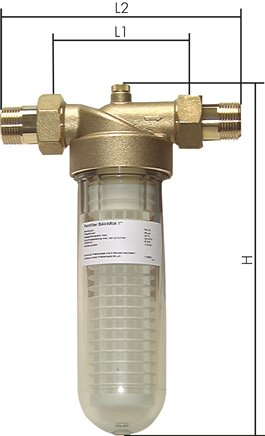 Microfilters for drinking water, PN 16