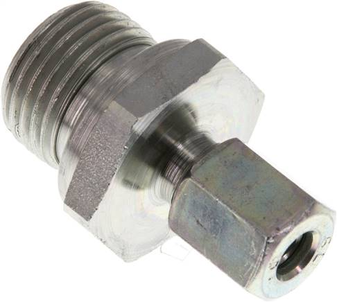 G1//4A Gerade Einschraubverschraubung Stahl verzinkt Rohrverschraubung mit Schneidring 8L