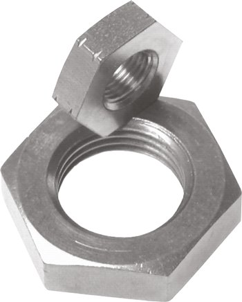 Hexagonal locknut M 12 x 1.25, Zinc plated steel (GM 12125 ST)
