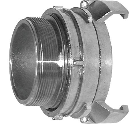 Guillemin couplings with male thread, locking