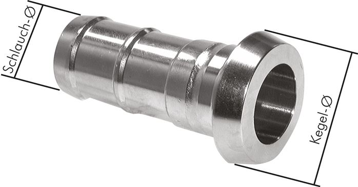 Liner hose fitting (dairy thread)