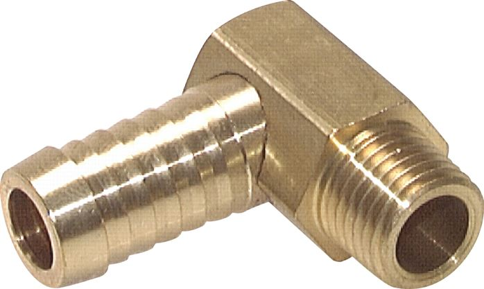 Angle threaded nozzles with imperial and metric thread, PN 16