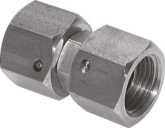 "Straight connector 60° cone, G 1/8""-G 1/8"", 1.4571 (GV 18 ES)"