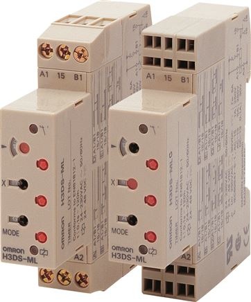 Multi-function time relay for DIN rails, DIN width 17.5 mm
