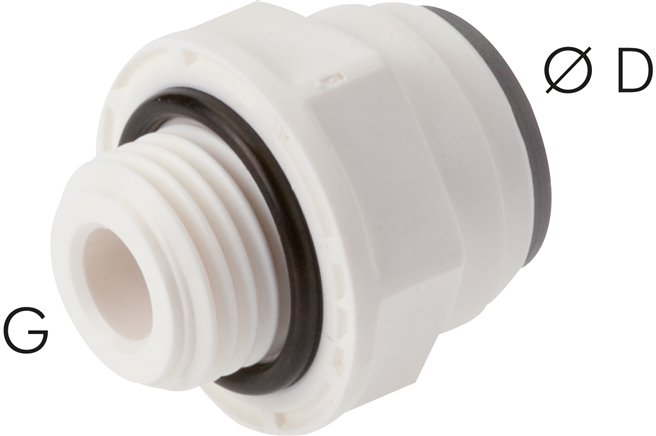 "Straight push in fittings G 1/8""-4mm, IQS-LE (EPDM seal) (IQSG 184 G LE)"