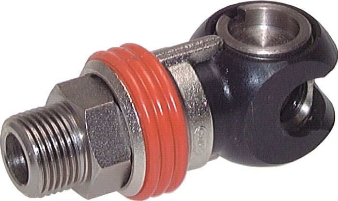 Safety swivel coupling sockets NW 7.2 (male thread)