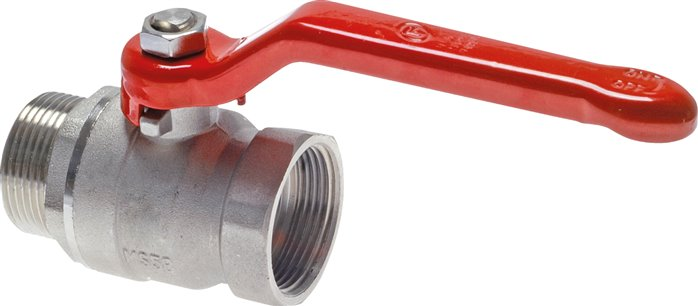 Screw-in ball valves, two-part, with full throughway, PN 25 (Eco-Line)