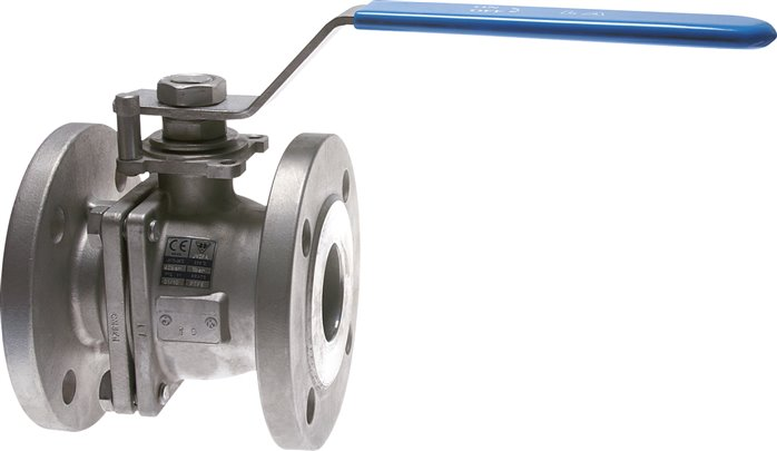 Stainless steel flanged ball valves, 2-part, full bore, PN 16