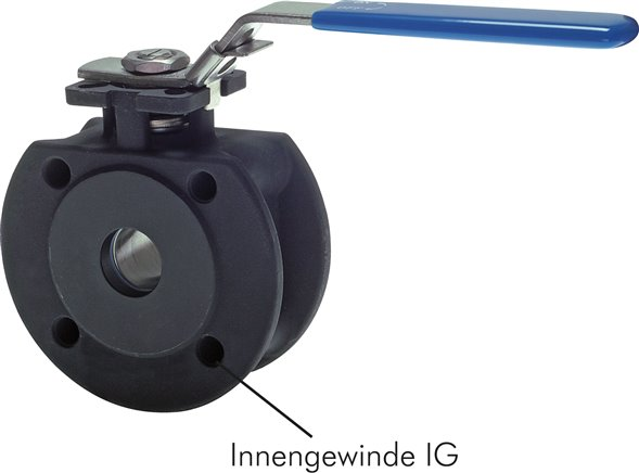 Compact flanged ball valves, full bore, PN 16/40