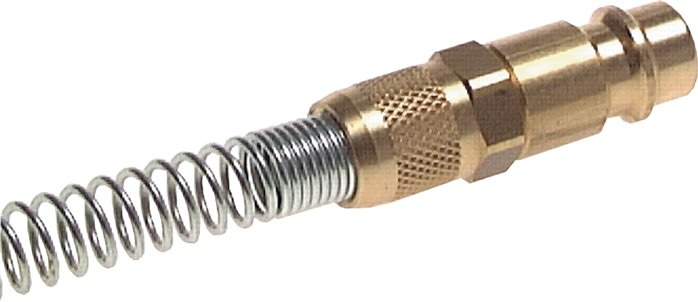 Coupling plug (NW7,2) 6 x 4mm hose m. bend protection (KSK KD 4 NW7)