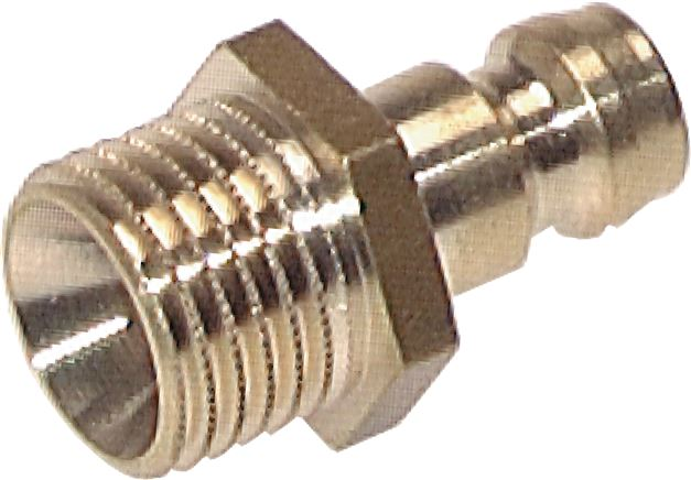 Coupling plugs, straight male thread, DN 6 (9 mm spigot)