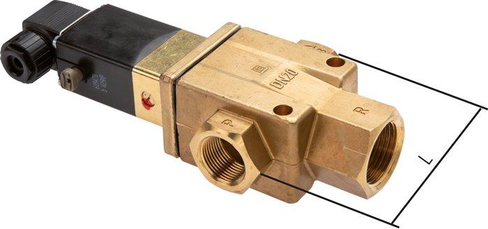 "Details about  /Magnetventil Steuermagnetventil für Luftstrom AC220V 3 Wege 2 Position 1//8 /""G"