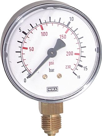 Manometer senkrecht Ø 40, 50, 63 mm, Klasse 2.5