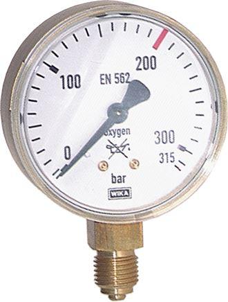 Manometer Sauerstoff WIKA 0-16bar