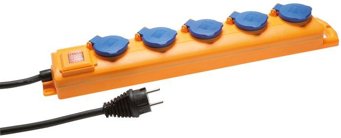 Bekannt 5-fach Steckdosenleiste (außen), Baustellen-Steckdosenverteiler IP XN47