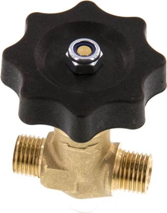 "Needle shut-off valve, brass, G 1/4"" (AG), PN 40 (NADEL 14 A)"