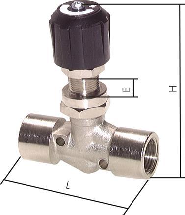 Ventil Nadelventil Eco-Line PN 300 Edelstahl-Nadel-Absperrventil Edelstahl