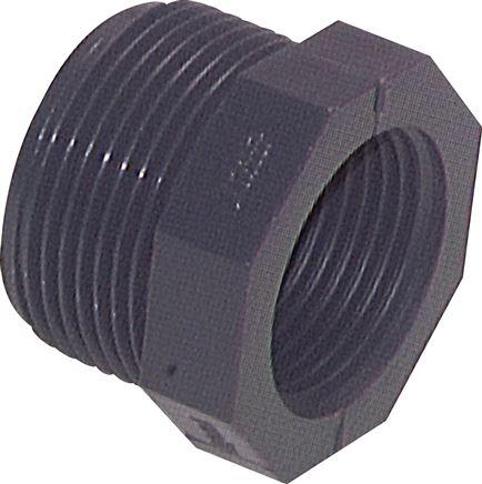 Bevorzugt Reduziernippel PVC-U kurze Ausführung (nur für Kunststoffgewinde JV72