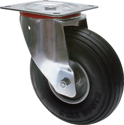 Castors with pneumatic tyres and PU tyres, 60 - 300 kg