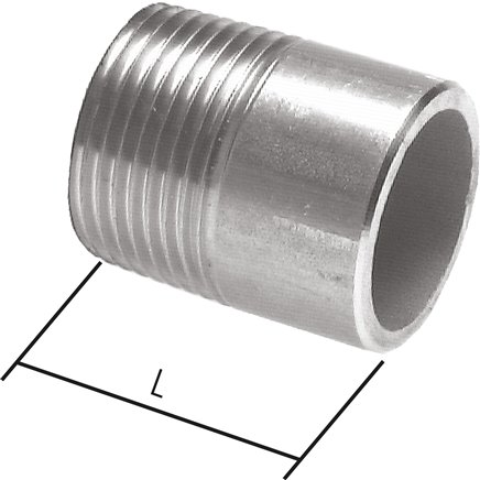 Welding nipple similar to EN 10241/DIN 2982, to 50 bar