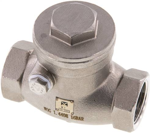 "Stainless steel swing check valve G 3/4"",PN 16 (RUCK 34 S ES E)"