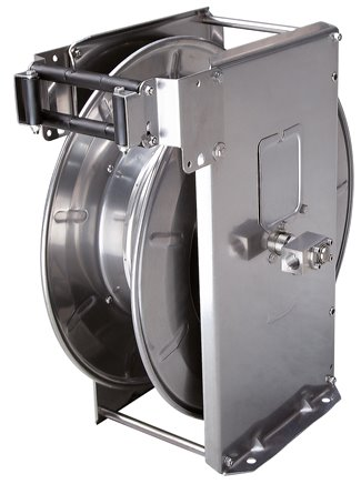 Automatic hose reels for the hygienic area, up to 400 bar