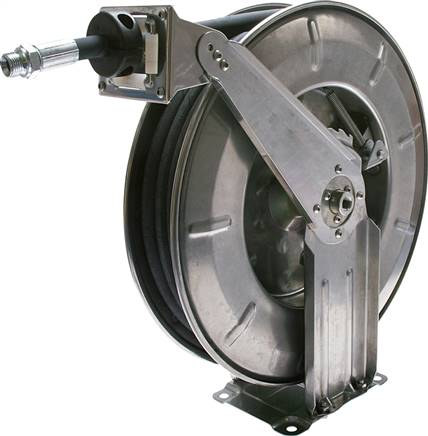 Automatic hose reel for compressed air and water, 50 bar