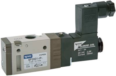"3/2-way solenoid valves with spring return G 1/8"", SF2000 model series"