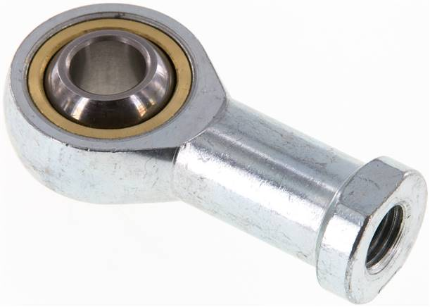 Swivel head, M 10 x 1.25, Zinc plated steel (SGS 25/32)