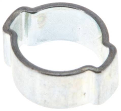 2-Ear hose clip 9 - 11mm, Jeklo, pocinkano (W1) (SSO 11)