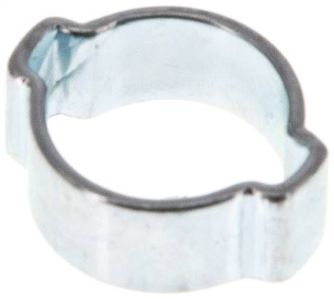 2-Ear hose clip 11 - 13mm, Jeklo, pocinkano (W1) (SSO 13)