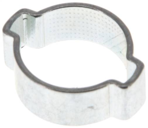 2-Ear hose clip 12,5 - 15mm, Jeklo, pocinkano (W1) (SSO 15)