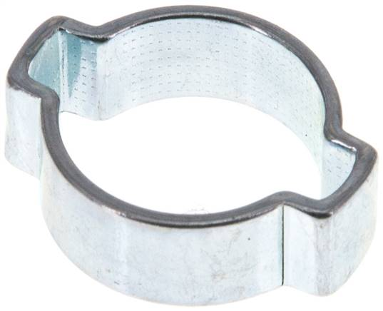 2-Ear hose clip 14 - 17mm, Jeklo, pocinkano (W1) (SSO 17)