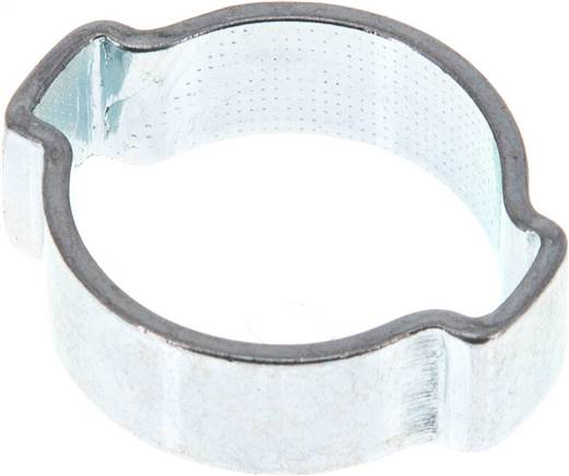 2-Ear hose clip 18 - 22mm, Jeklo, pocinkano (W1) (SSO 22)