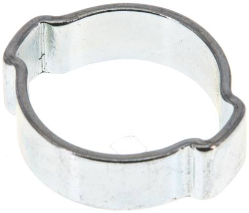 2-Ear hose clip 19 - 23mm, Jeklo, pocinkano (W1) (SSO 23)