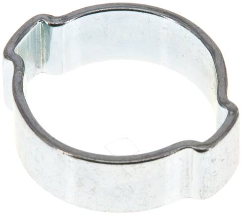 2-Ear hose clip 21 - 25mm, Jeklo, pocinkano (W1) (SSO 25)