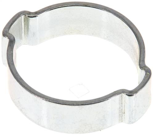 2-Ear hose clip 24 - 28mm, Jeklo, pocinkano (W1) (SSO 28)
