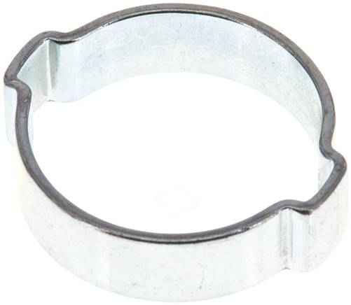 2-Ear hose clip 27 - 31mm, Jeklo, pocinkano (W1) (SSO 31)