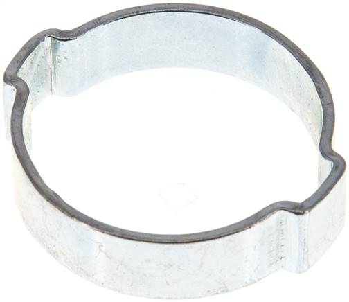 2-Ear hose clip 29,3 - 34mm, Jeklo, pocinkano (W1) (SSO 34)