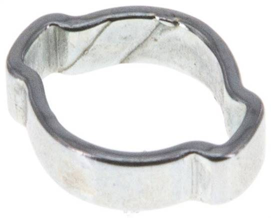 2-Ear hose clip 7 - 9mm, Jeklo, pocinkano (W1) (SSO 9/4)