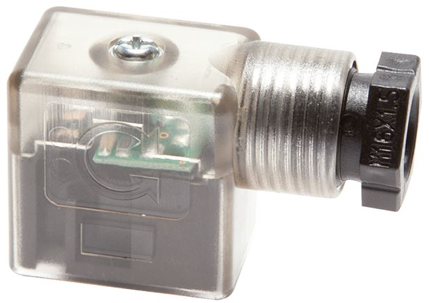 Standard connector for magnetic coils (with protection circuit & LED display)