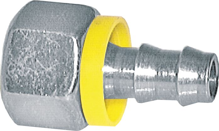 Push-in fittings with union nut, metric thread, 24° cone